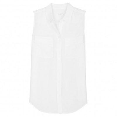 Sleeveless Slim Signature Top in Bright White