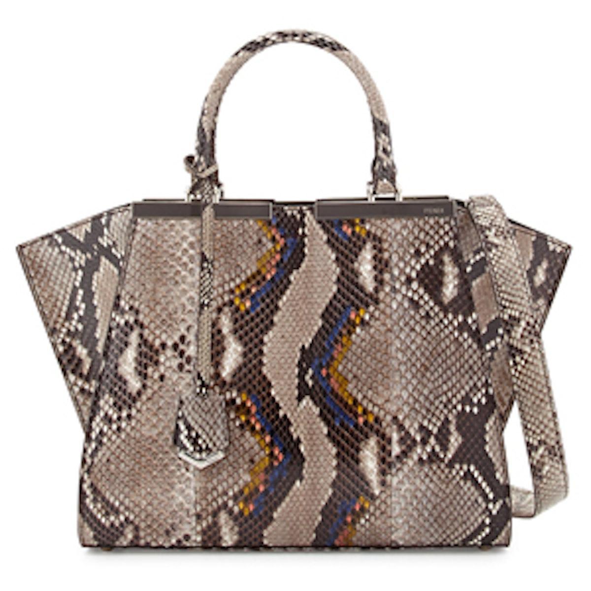 Trois-Jour Mini Python Shopping Tote Bag