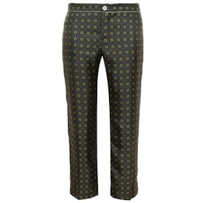 Medallion Print Silk Pyjama Trousers
