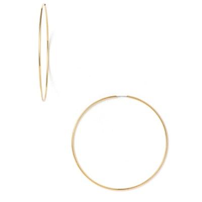Endless Hoop Earrings In Gold