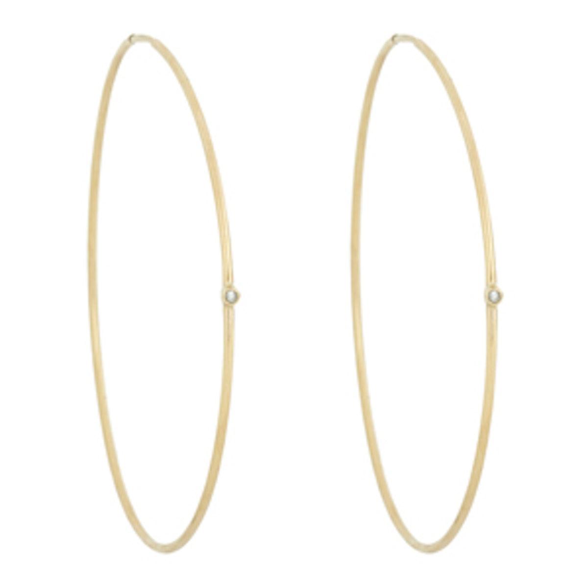 Oversize Hoop Earrings With Diamonds