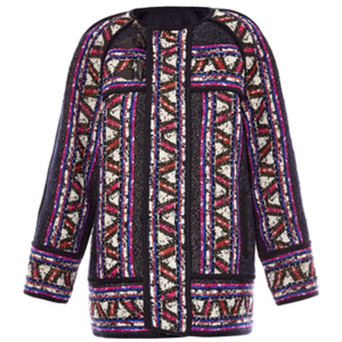Driest Tribal-Woven Wool-Blend Coat