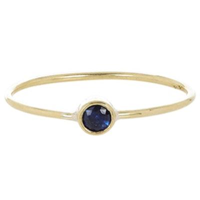 Thin Sapphire Ring