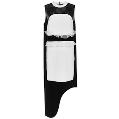 Black and White Silk Juliette Panel Sleeveless Dress
