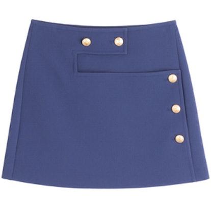 Cotton Twill Mini-Skirt