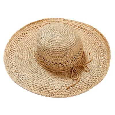 Open Weave Floppy Straw Hat