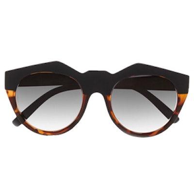 Neo Noir Round-Frame Acetate Sunglasses