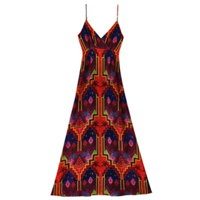 Red Pyramids Slip Gown