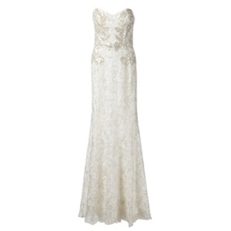 Strapless Lace Gown
