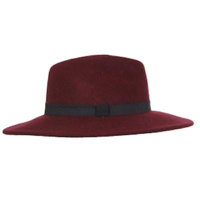 Oxblood Felt Fedora Hat