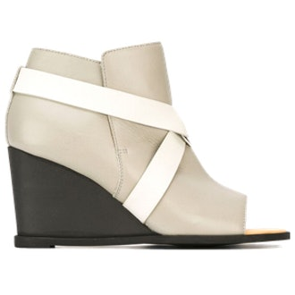 Open Toe Strapped Wedge Bootie
