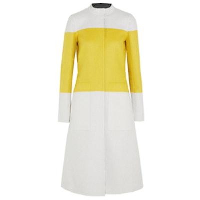 Reversible Color-Block Wool Coat