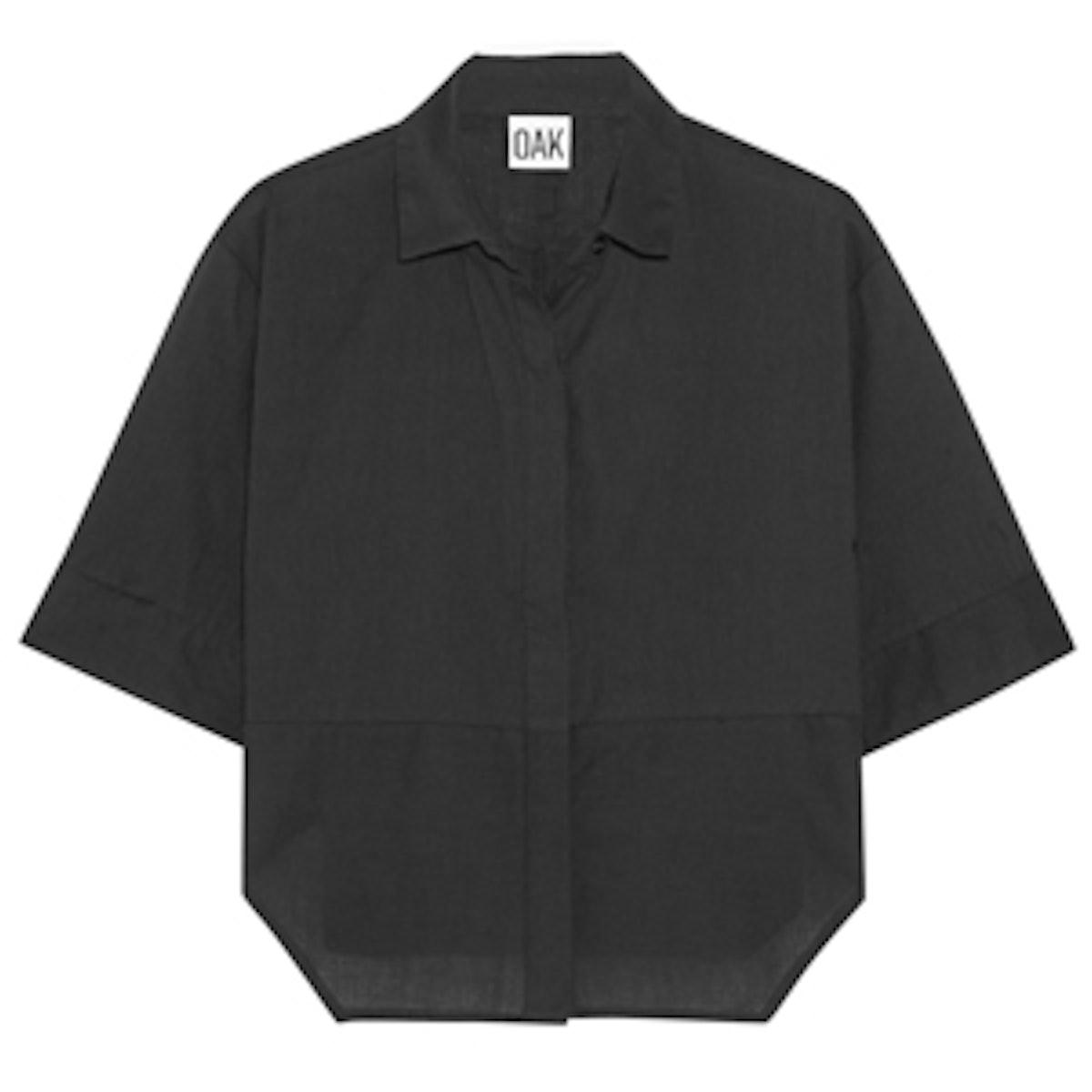 Cropped Striped Cotton Shirt