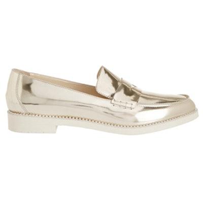 Tenzin Metallic Leather Loafers