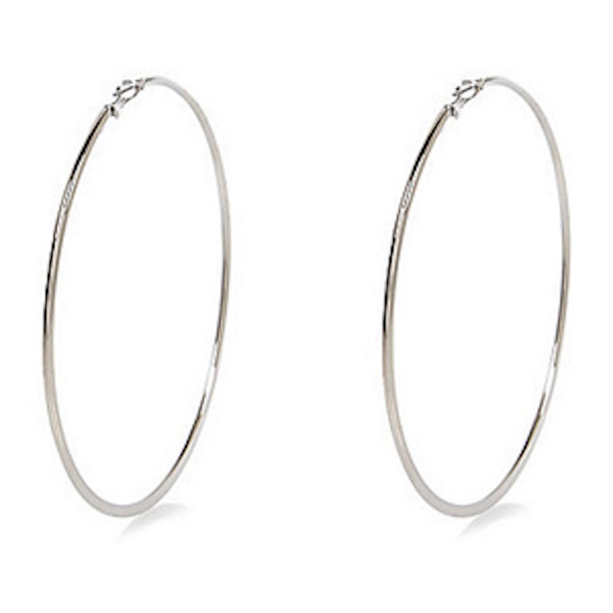 Silver-Tone Oversize Earrings