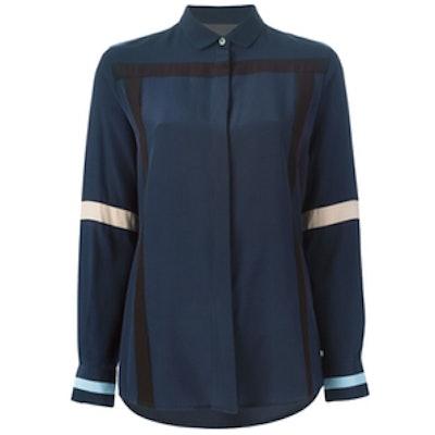 Black Label Appliqué Stripe Shirt