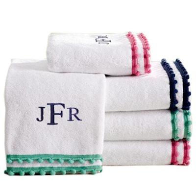 Pom Pom Bath Towels