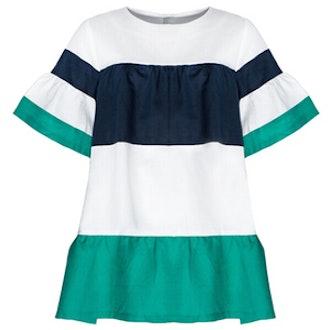 Green Stripe Babydoll Dress