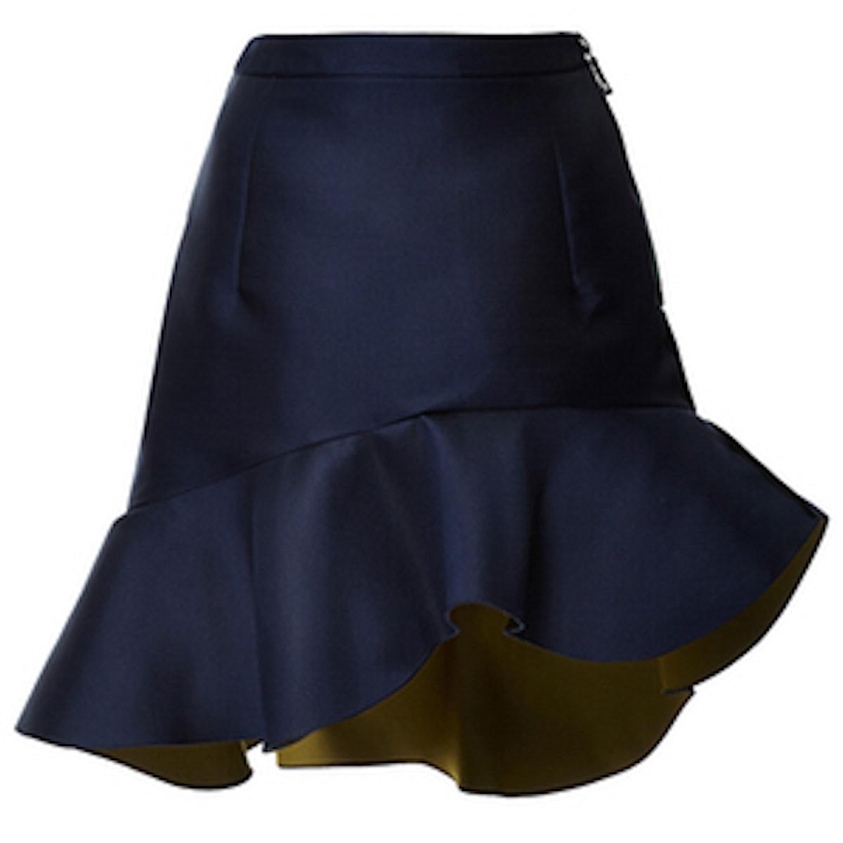 Navy Peplum Curzon Skirt