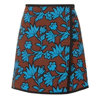 High-Waisted Floral Wrap Skirt