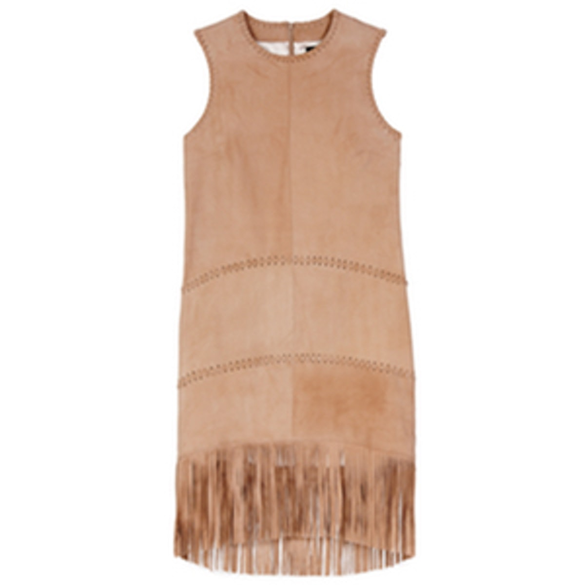 Celia Suede Fringe Dress