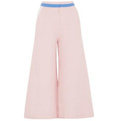 Color-Block Wool-Crepe Culottes
