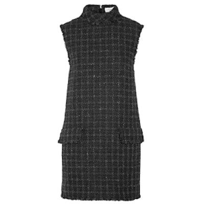 Fringed Wool-Blend Tweed Mini Dress