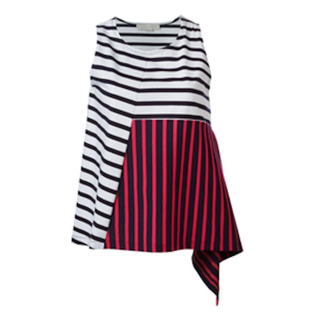 Asymmetric Stripe Top