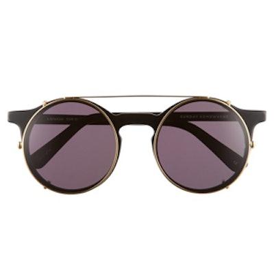 Matahari Detachable Round Sunglasses