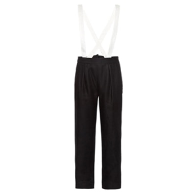 Bi-Colour Linen Suspender Trousers
