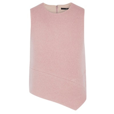 Asymmetric Wool-Bouclé Top