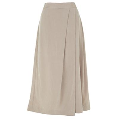 Silk Pleated Drape Culottes
