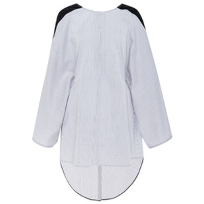 Stripe Cotton Poplin Reversible Tunic