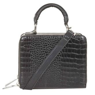 Croc-Effect Box Bag