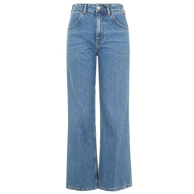Moto Wide Leg Cropped Jeans