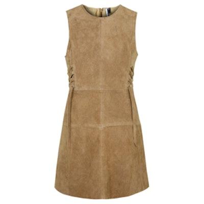 Petite Suede Tie-Side Dress