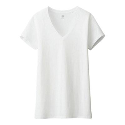 Washed V-Neck Short Sleeve T-Shirt