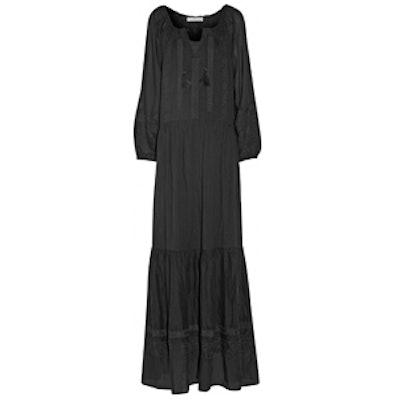 Daloa Embroidered Cotton-Voile Maxi Dress