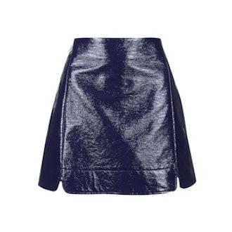 Vinyl A-Line Skirt