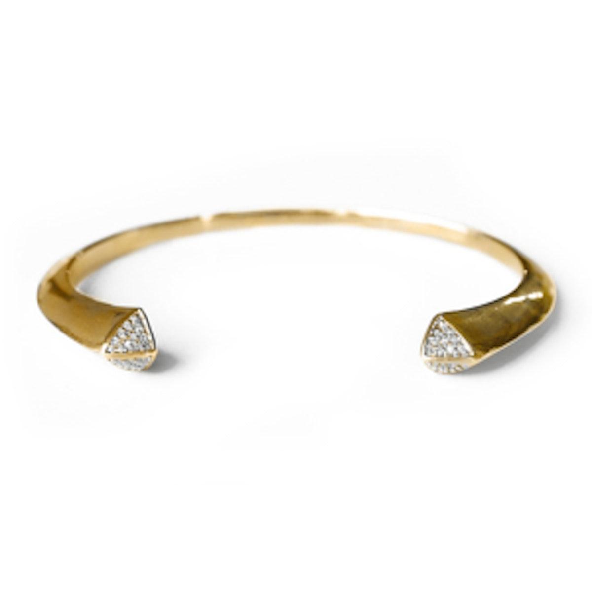 Studded Pavé Gold Cuff