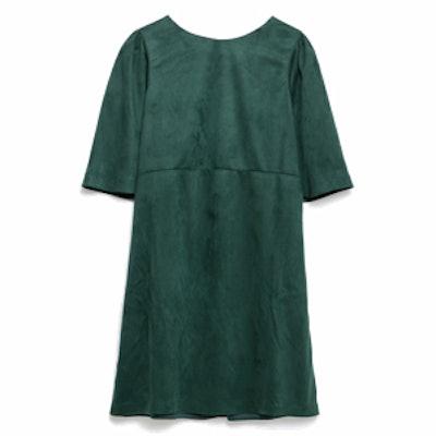 Faux-Suede Dress
