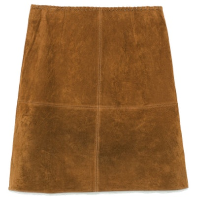 Seamed Skirt with Trimmed Waist