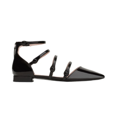 Flat Shoes With Ankle Strap