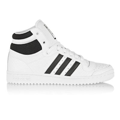 Top Ten Textured-Leather High-Top Sneakers