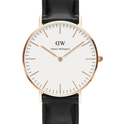 Classic Sheffield Leather Strap Watch, 36mm