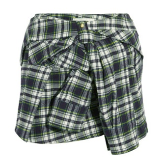 Plaid Flannel Mini Skirt