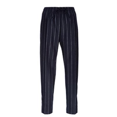 Striped Lou Lou Cropped Wool Pants