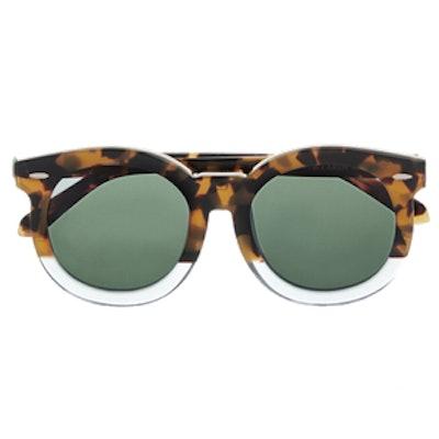 Super Duper Thistle Round-Frame Acetate Sunglasses
