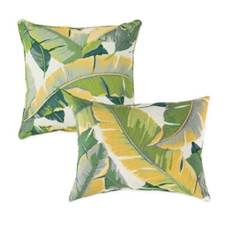 Large Leaves Outdoor Throw Pillows