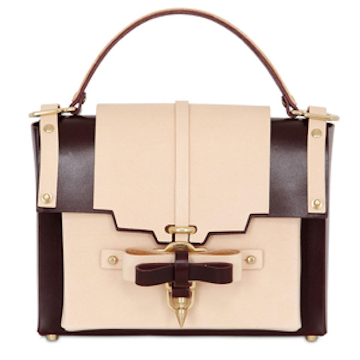 Bow Buckle Top-Handle Bag